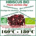 Fleurs séchées d'Hibiscus certifiées bio 20gr à vaporiser