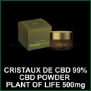 Cristaux d'isolat de CBD 99% 500mg Powder CBD Plant of Life