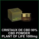 Powder CBD Cristaux - isolat CBD 99% 1000mg Plant of Life