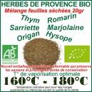 Herbes de Provence Biologiques VRAC en sachet de 20gr