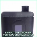Embout-tuyau noir en verre pour vaporisateur Arizer Argo