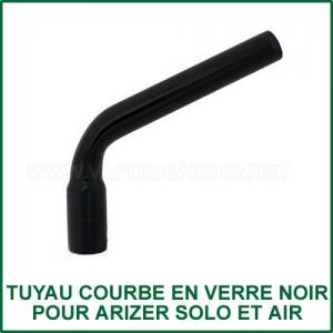 Tuyau noir courbé en verre Arizer Solo et Air 1 et 2