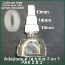 Adaptateur pipe à eau 3 en 1 Pax 3 et 2 - 10mm, 14mm et 18mm