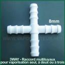 Connecteur - raccord multi-tuyaux 3WAY - vaporisation à 3