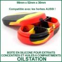 OilStation - Boite en silicone pour huiles et concentrés 6 compartiments