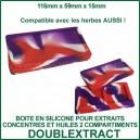 DoublExtract - boite en silicone pour extraits concentrés - deux compartiments