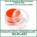 SiliPlast boite plastique avec l'intérieur silicone pour huiles et extraits