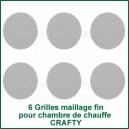 6 Grilles Fines pour compartiment de chauffe Crafty