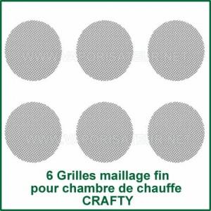 6 Grilles Fines pour chambre de chauffe Crafty