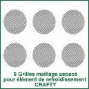 6 Grilles maillage espacé pour élément de refroidissement Crafty