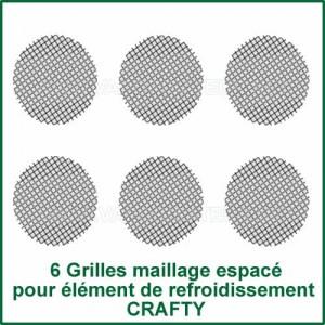 6 Grilles maillage espacé pour unité de refroidissement Crafty