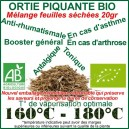 Ortie Piquante Bio feuilles séchées 20gr VRAC meilleur prix