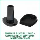 Embout buccal connecteur pipe à eau 10mm MIQRO Da Vinci