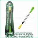 Vape Scrape Tool NoGoo - accessoire en acier et silicone pour concentrés