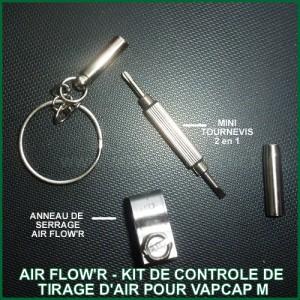 Air Flow'R Kit de contrôle de tirage d'air pour VapCap M