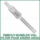 Embout-bubbler Filter Vial pour vaporisateur portable Arizer Argo