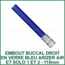 Tuyau en couleur bleu long Arizer Air et Solo 1 et 2