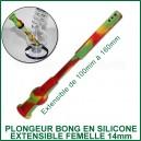 Plongeur extensible en silicone pour bong 14mm