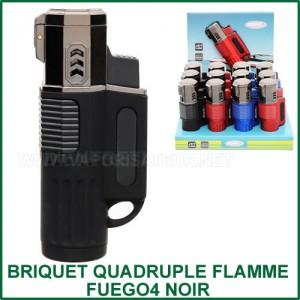 Briquet torche quatre flammes Fuego4