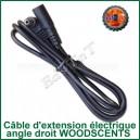 Câble d'extension prise secteur électrique angle droit WoodScents Ed's TnT
