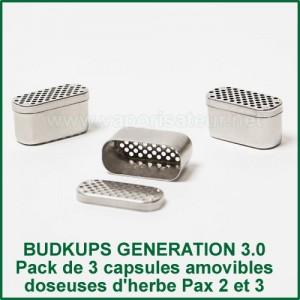 BudKups Generation 3.0 Capsules doseuses d'herbe pour Pax 2 et Pax 3