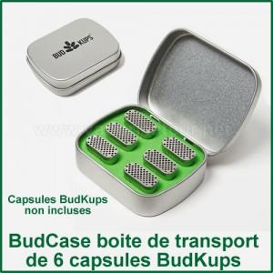 Bud Case Boite de transport pour 6 capsules BudKups