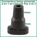 Connecteur-adaptateur bubbler silicone universel 2 en 1 Pax 2 ou 3