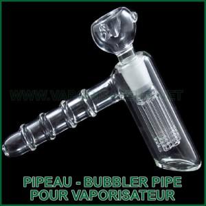 Pipe-Bubbler en verre Pipeau pour vaporisateur