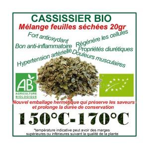 Feuilles séchées du Cassissier Bio 20gr
