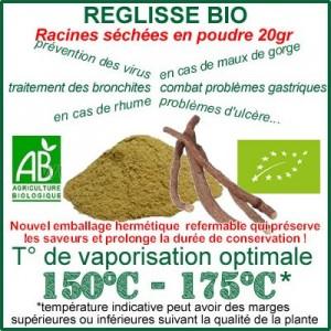 Réglisse Bio Racine en poudre 20gr