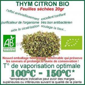 Thym Citron Bio Feuilles en vrac sachet de 20gr