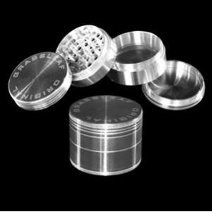 Grinder Grassleaf Aluminium 50mm récupérateur pollen (polinator)