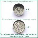 2 Capsules avec filtre titane en double pour poudre Crafty et Mighty