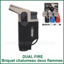 Briquet torche double flamme Dual Fire pour vaporisateur