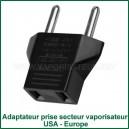 Adaptateur-convertisseur de prise secteur électrique USA - Europe