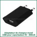 Adaptateur-convertisseur USB - prise secteur électrique vaporisateur