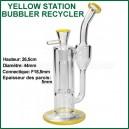 Yellow Station Recycler bubbler pour vaporizer filtration en boucle