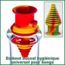 Embout buccal universel SafeDraw en silicone pour bongs