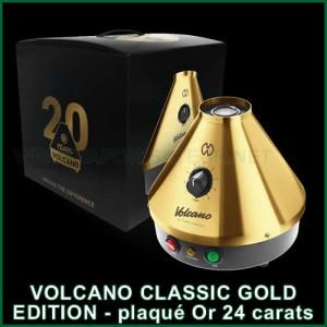 Volcano Classic Gold Edition avec dôme plaqué or pur 24 carats