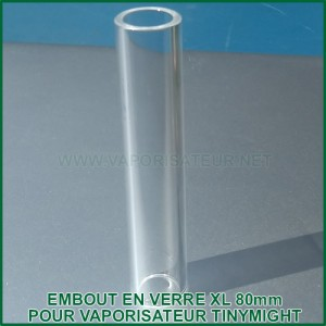 Embout en verre quartz XL long 80mm pour vaporisateur TinyMight