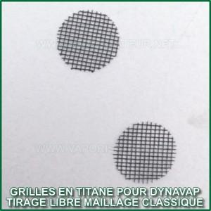 Grilles en titane DynaVap Free'R tirage plus libre maillage classique