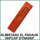 SlimStash XL DynaVap Padauk - boite de transport en bois VapCap fin et plus léger