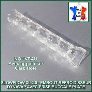 SlowFlow 2.0 stem en verre deluxe refroidisseur de vapeur pour DynaVap