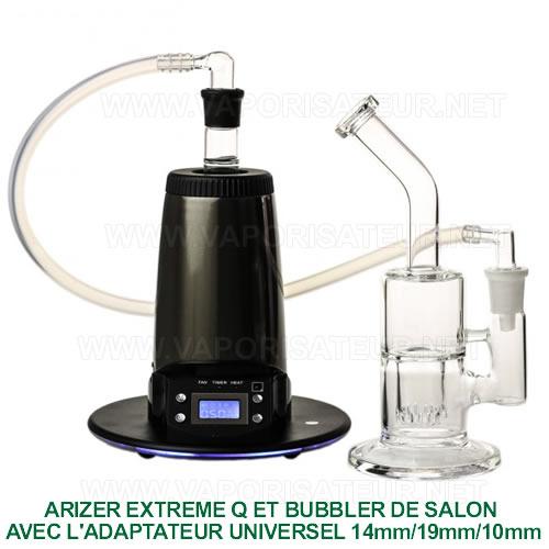 La connexion entre le vaporisateur Arizer Extreme Q et un bong