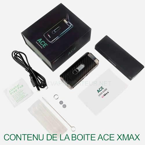 Contenu de la boite Ace XMAX - tout ce que vous trouvez dans le package Ace XMAX