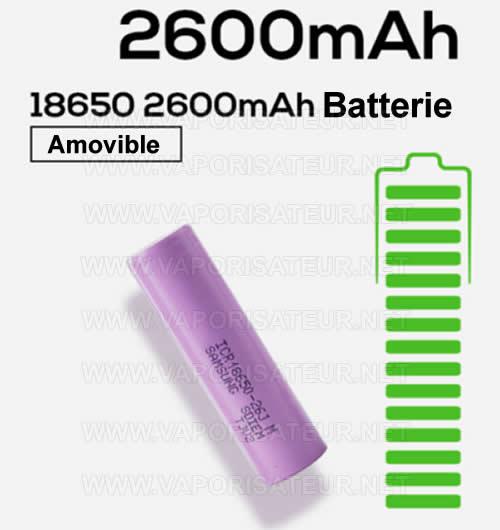 Pile lithium rechargeable 18650 pour vaporizer portable Ace XMAX