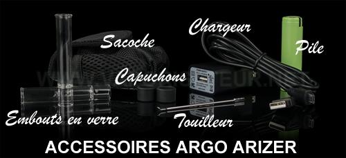 Tous les accessoires présents dans le pack de départ Arizer Argo