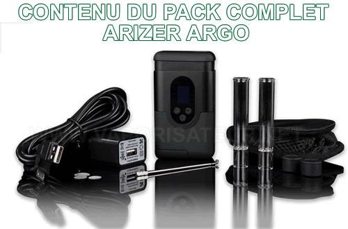 La présentation du pack complet vaporizer Argo Arizer