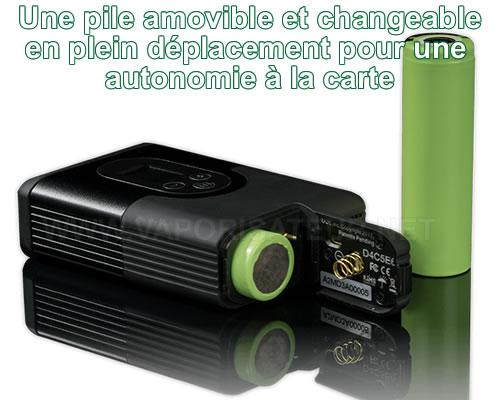 Pile lithium amovible 18650 pour vaporisateur portable Argo