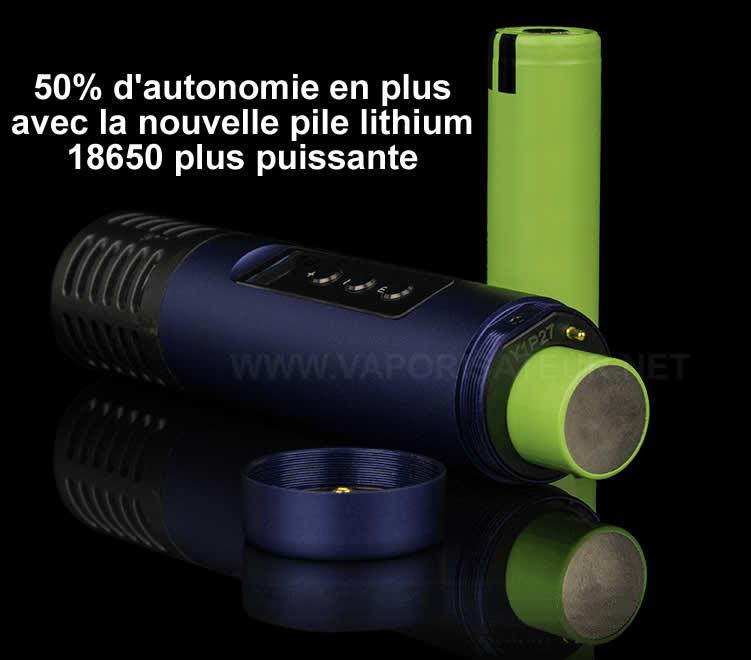 Accu 18650 lithium rechargeable du vaporisateur Arizer Air 2 apporte plus d'autonomie
